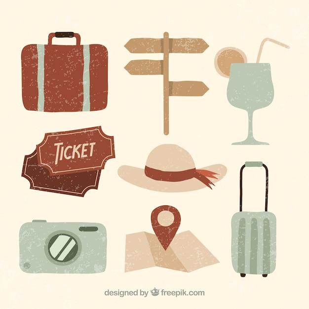 Pamela with vintage travel elements