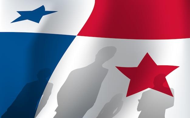 Panama flag Premium Vector