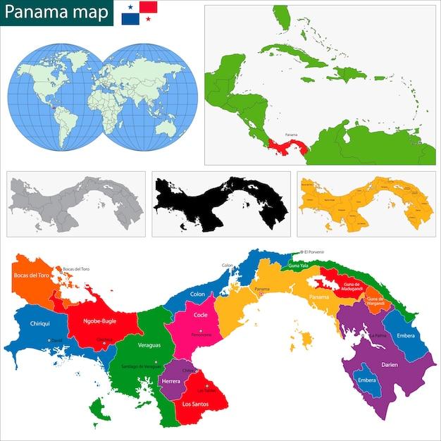 Panama Map Vector Premium Download - Panama map vector