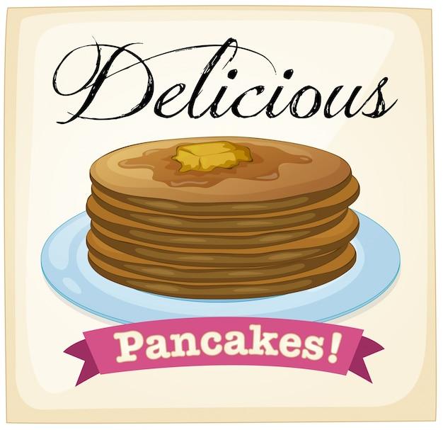 Pancakes poster Premium Vector