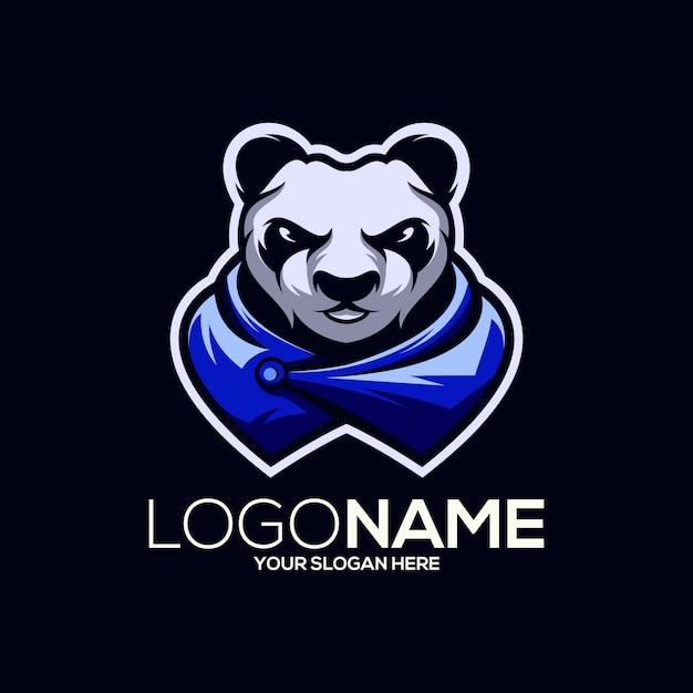 パンダのロゴデザイン Premiumベクター