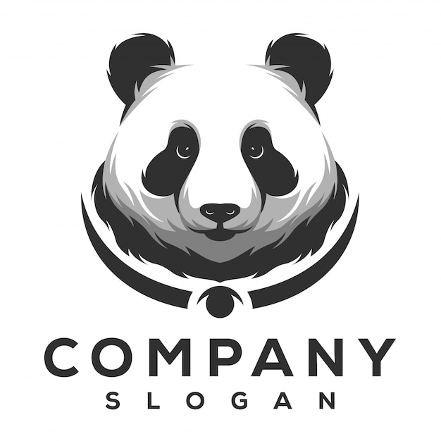 Panda logo design Premium Vector