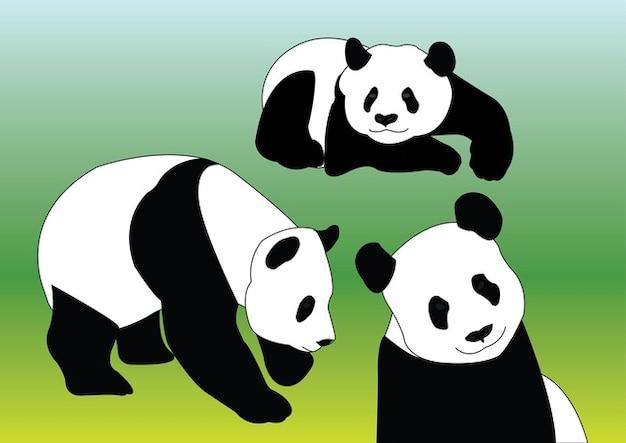 Panda Vectors Free Vector