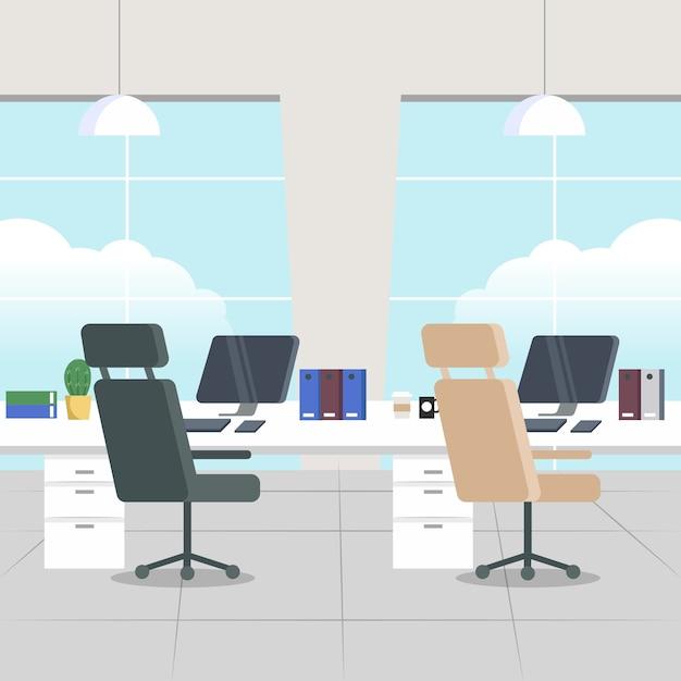 Концепция пандемии пустой офис Бесплатные векторы