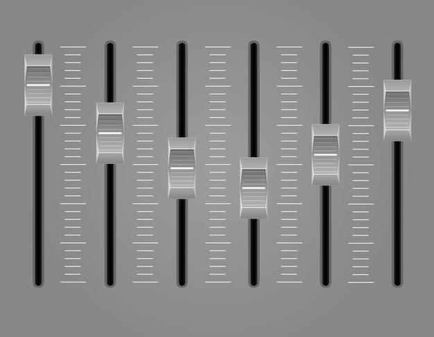 Panel console sound mixer vector illustration Premium Vector