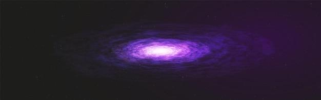 우주 배경에 파노라마 환상적인 울트라 바이올렛 은하수 프리미엄 벡터