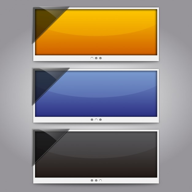 Panoramic screen pack Free Vector