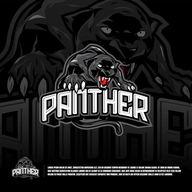 Panther sport team logo template Premium Vector