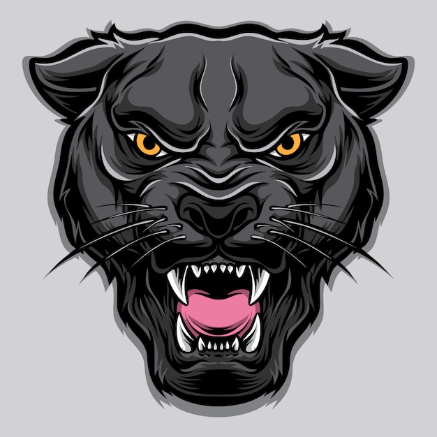 Panther vector head Premium Vector