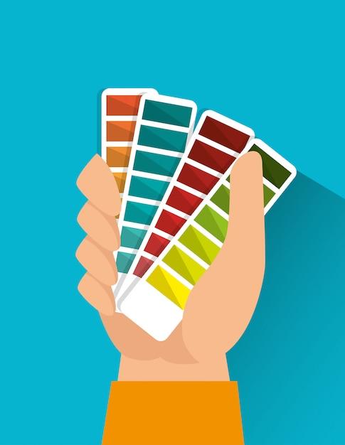 Графические цвета pantone Бесплатные векторы