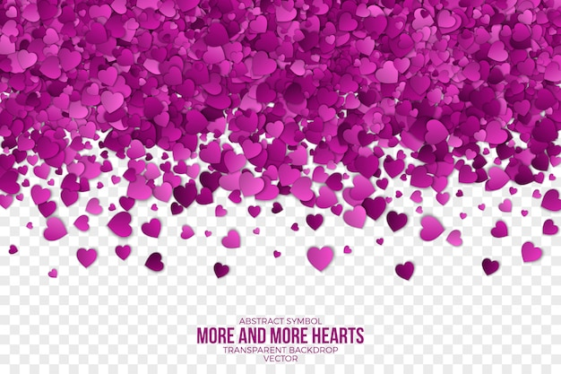 Paper 3d falling hearts abstract background Premium Vector