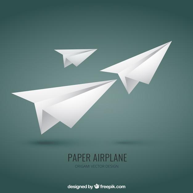 Paper Airplane Premium Vector
