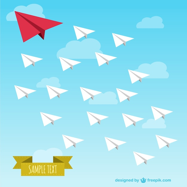 Paper airplanes army Free Vector