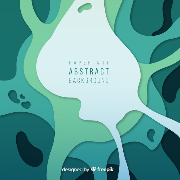 Paper art abstract background Free Vector