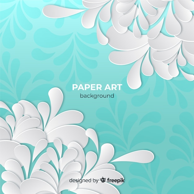 Paper art background Free Vector