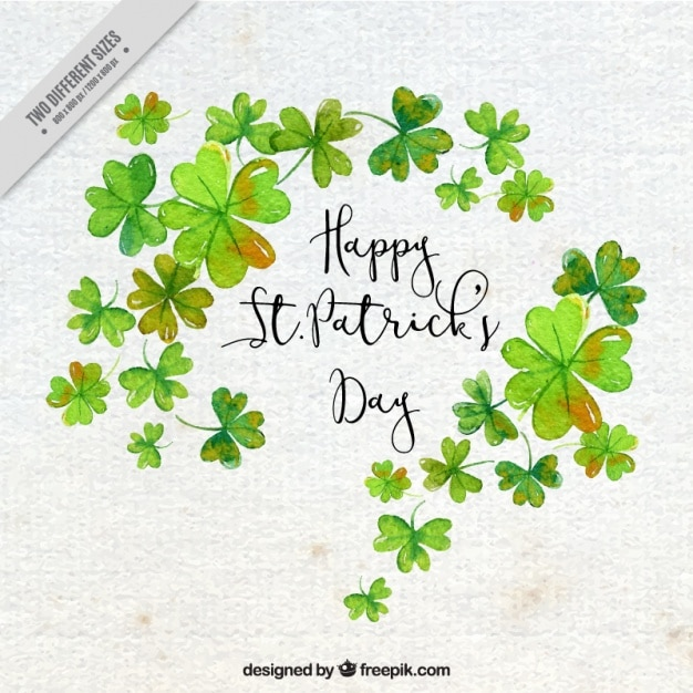 paper background with clovers for st patrick 39 s day vector free download. Black Bedroom Furniture Sets. Home Design Ideas