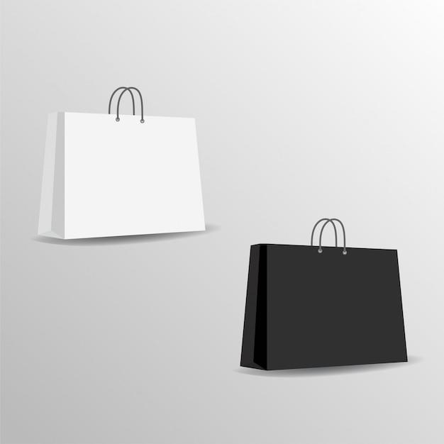 paper bag mock up vector template vector