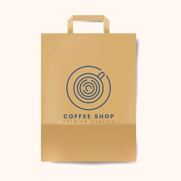 Paper bag mockup isolated vector Free Vector