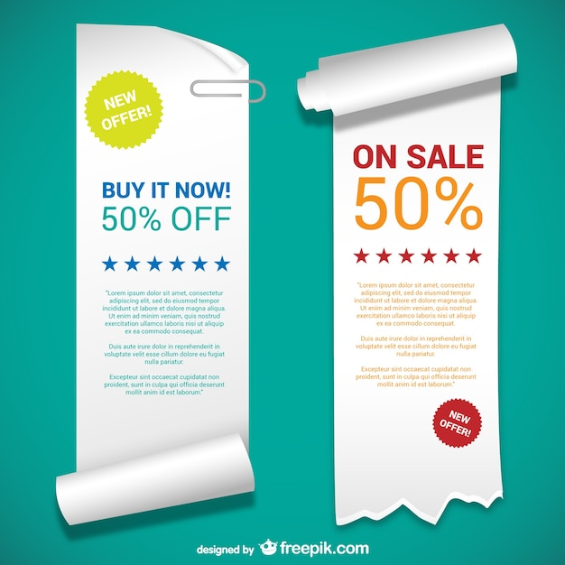 Paper banner templates Vector | Free Download