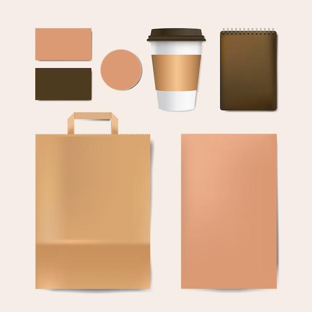 Paper branding mockup vector set Free Vector