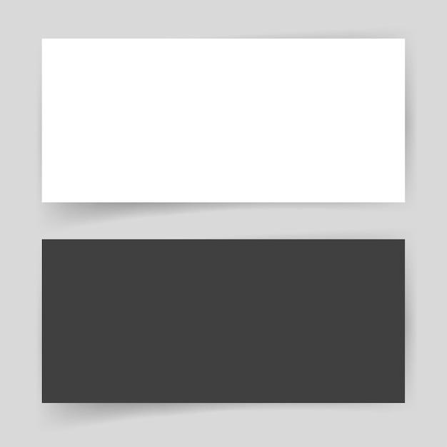 Бумажная карта пустой пустой шаблон для презентации фирменного стиля Premium векторы