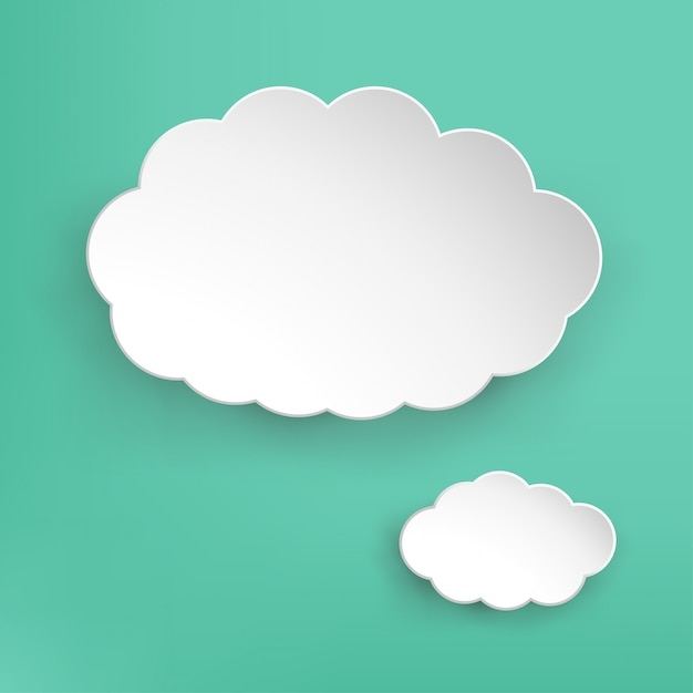 Paper cloud Premium Vector