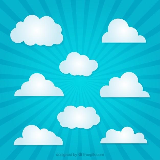 Paper clouds vector premium download - Papel decorativo infantil ...