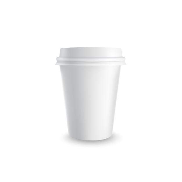 紙のコーヒーカップ。 無料ベクター