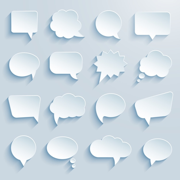 Paper communication speech bubbles Free Vector