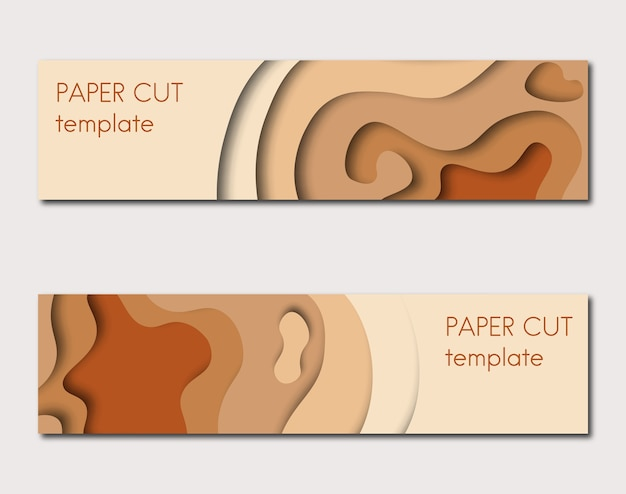 Paper cut template Premium Vector