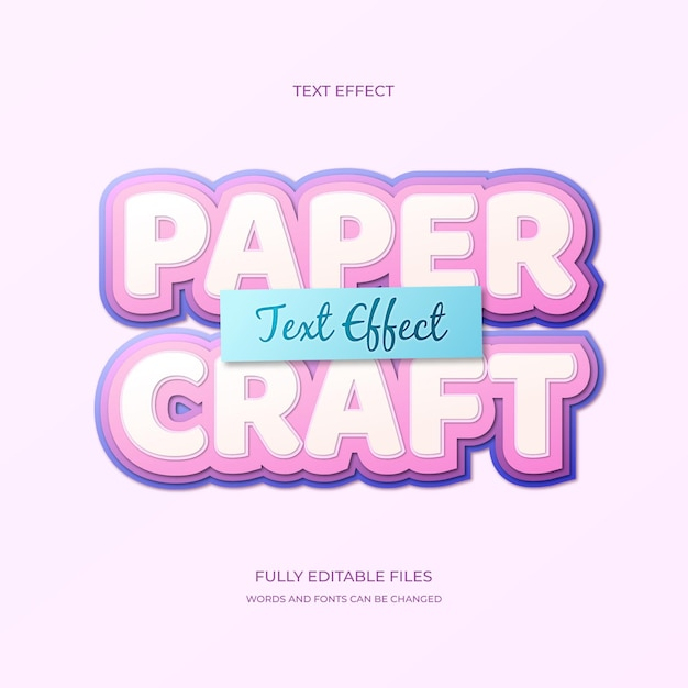 Paper cut text effect Free Vector