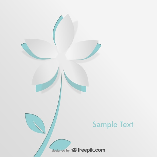 Paper flower card vector free download paper flower card free vector mightylinksfo