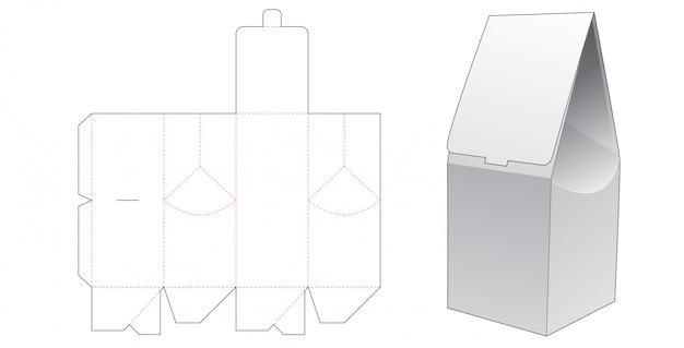 Paper gift bag die cut template design Premium Vector