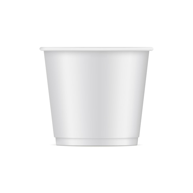 Paper ice cream cup mockup isolated on white. Premium Vector