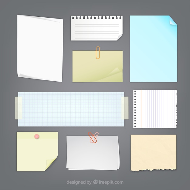 Paper Notes Collection Vector Free Download