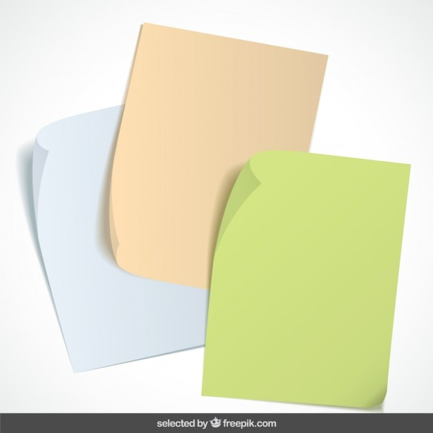 Paper notes collection Free Vector