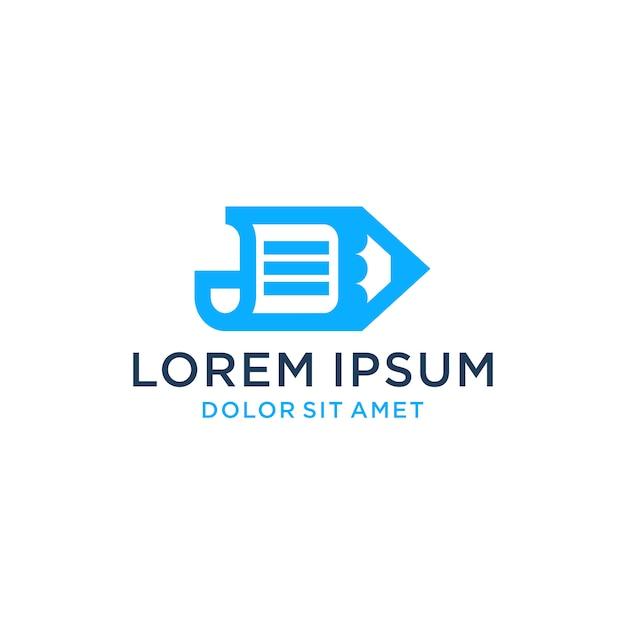 Paper pen logo icon download Premium Vector