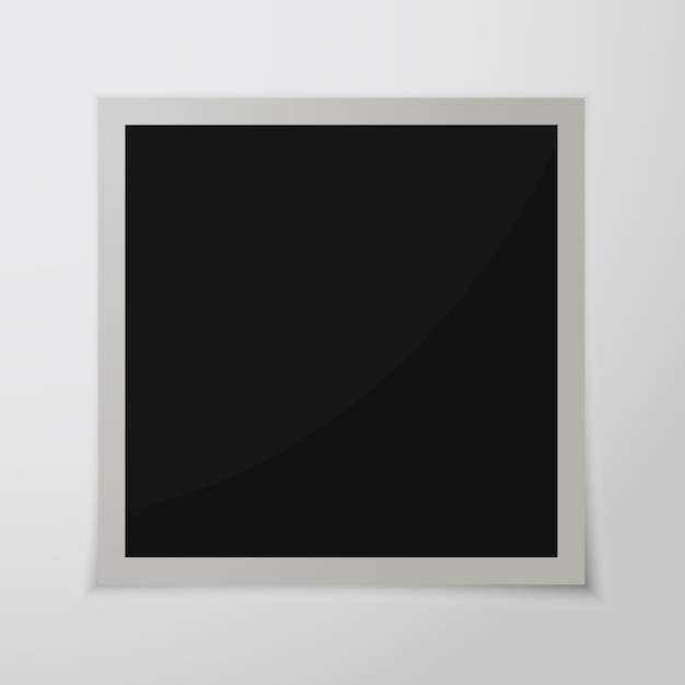 Paper photo frame with shadow. retro photo frame isolated Premium Vector