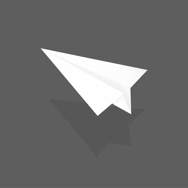 Paper plane Free Vector