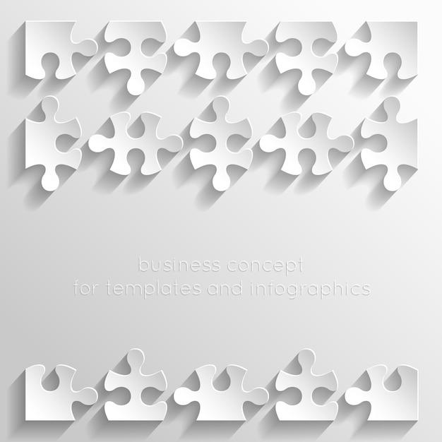 Illustrazione di puzzle di carta Vettore gratuito