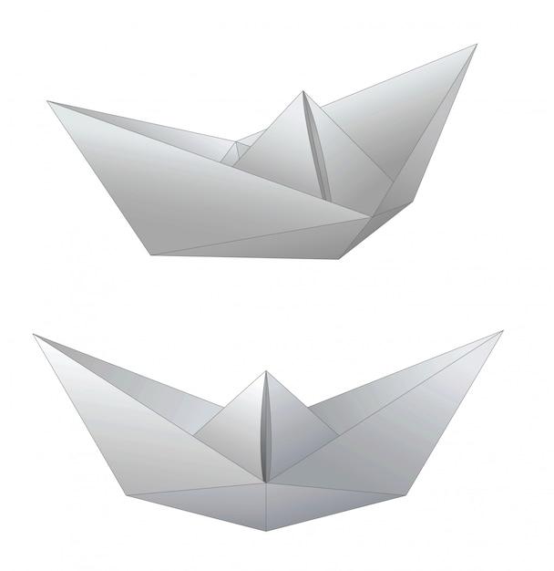 Paper ships Premium Vector