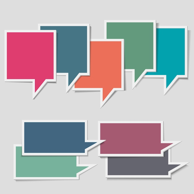 Paper speech bubbles Premium Vector