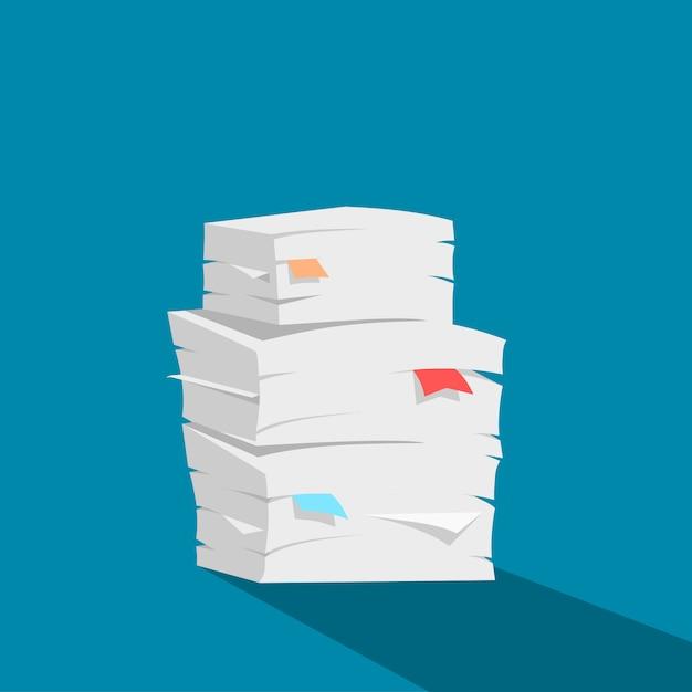 Paper stack vector Premium Vector