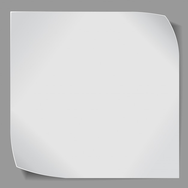 Paper sticker over grey background Premium Vector