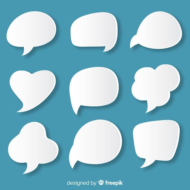 Paper style flat speech bubble  diversity Free Vector
