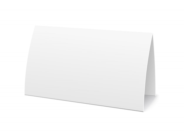 Paper table card, sign template Free Vector