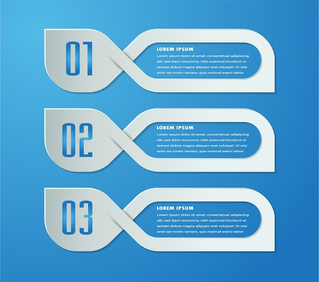 Paper text box template, banner infographic Premium Vector