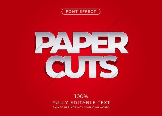 Paper text effect. editable font style Premium Vector