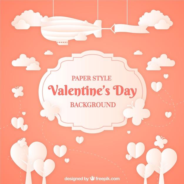 Paper valentine\'s day background