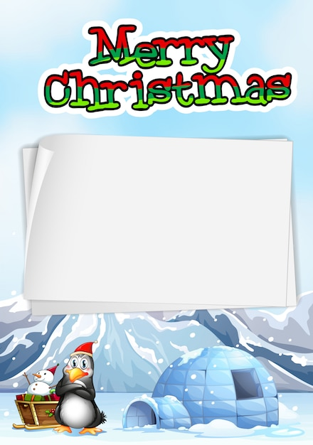 Paper  with chistmas theme Free Vector